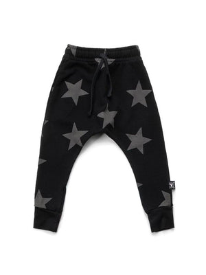 Nununu French Terry Star Baggy Pants Black