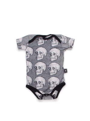 Nununu MD Skull Onesie Grey - 1love2hugs3kisses Ibiza