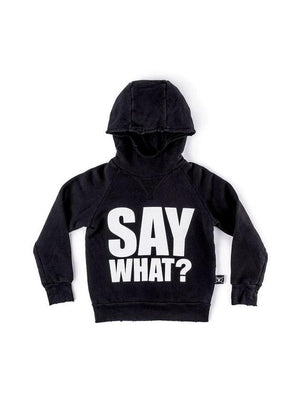 Nununu Say What? Fluffy Hoodie Black - 1love2hugs3kisses Ibiza