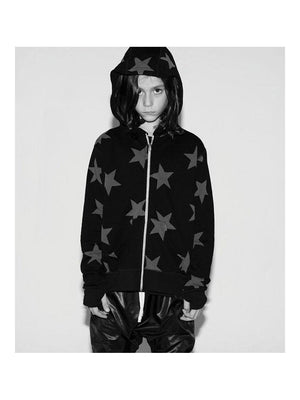 Nununu Star Zip Hoodie Sweat Black - 1love2hugs3kisses Ibiza