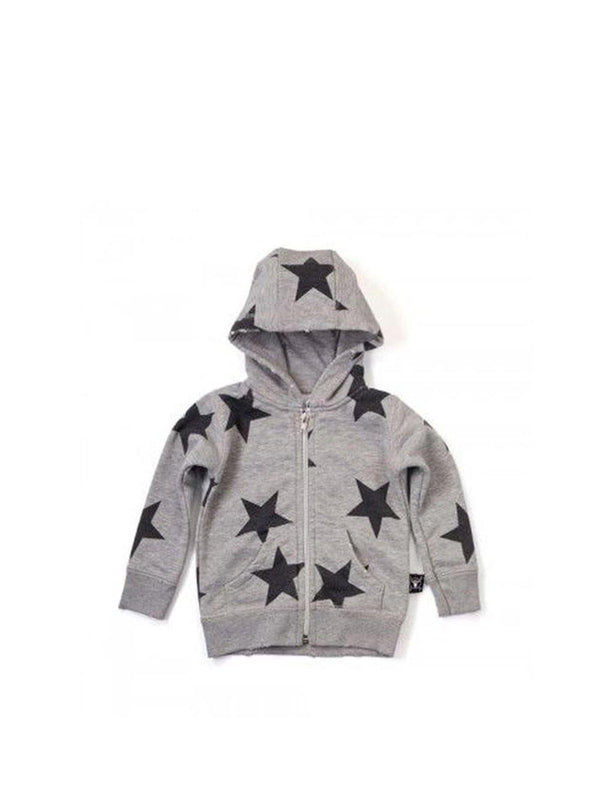 Nununu Star Zip Hoodie Sweat Grey - 1love2hugs3kisses Ibiza