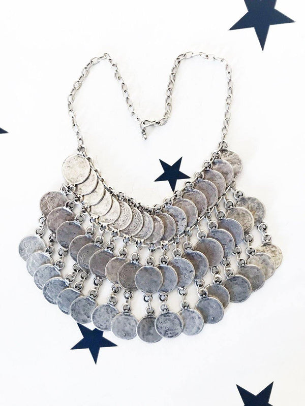 OneLove Coin necklaces Kenitra Silver - 1love2hugs3kisses Ibiza