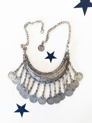 OneLove Coin necklaces Marrakech Silver - 1love2hugs3kisses Ibiza