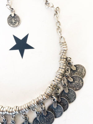 OneLove Coin necklaces Rabat Silver - 1love2hugs3kisses Ibiza