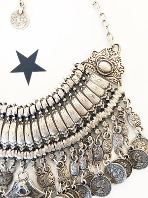 OneLove Coin necklaces Tangier Silver - 1love2hugs3kisses Ibiza
