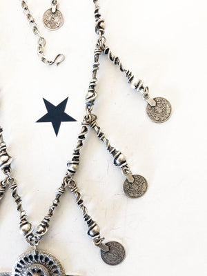OneLove Coin necklaces Temara Silver - 1love2hugs3kisses Ibiza