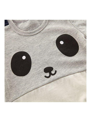 1love2hugs3kisses Baby Onesie Panda Grey Creme - 1love2hugs3kisses Ibiza