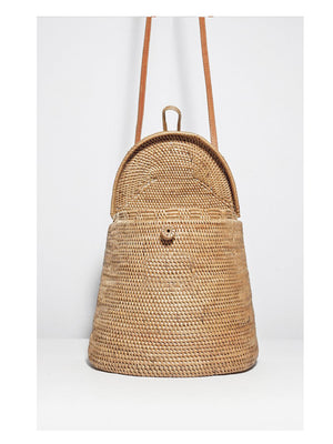 Ratan Round Bag Backpack - 1love2hugs3kisses Ibiza