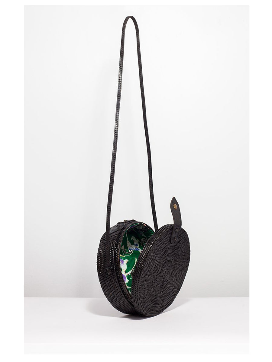 Ratan Round Bag Black - 1love2hugs3kisses Ibiza