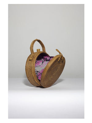 Ratan Round Bag Hand Clutch - 1love2hugs3kisses Ibiza