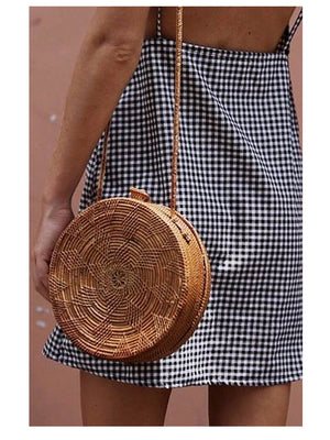 Ratan Round Bag IT Bag - 1love2hugs3kisses Ibiza