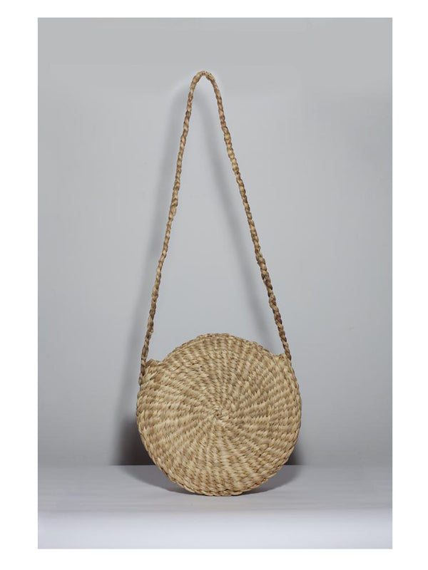 Ratan Round Bag Palm - 1love2hugs3kisses Ibiza