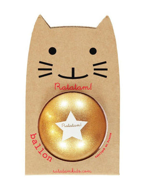 Ratatam Cat Ball Star Large Gold - 1love2hugs3kisses Ibiza