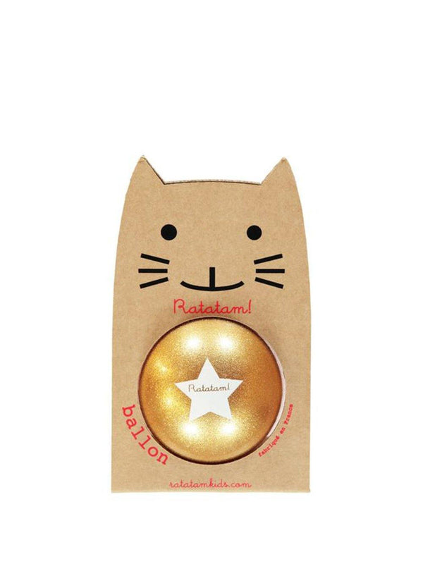 Ratatam Cat Glitter Ball Star Small Gold - 1love2hugs3kisses Ibiza