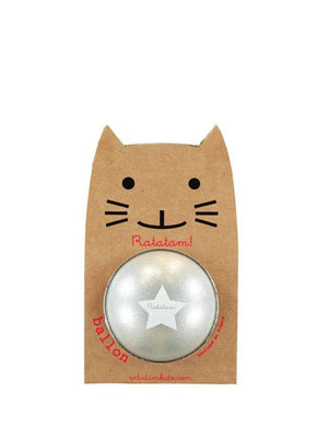Ratatam Cat Glitter Ball Small Silver