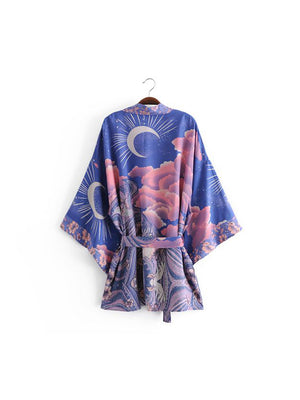 1love2hugs3kisses Short Kimono Moon
