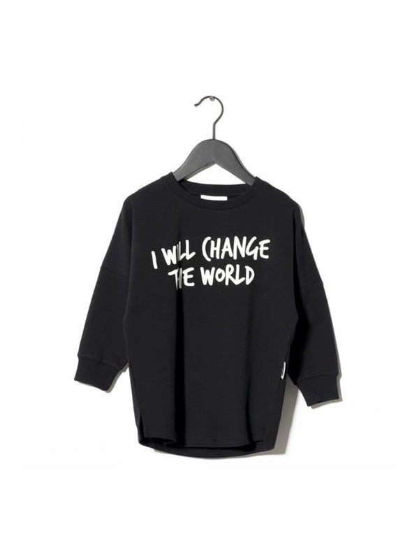 Sometime Soon Change Crewneck Black