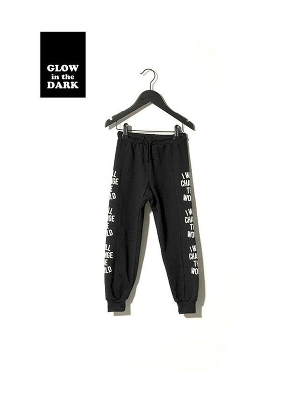 Sometime Soon Worth Sweatpants Black - 1love2hugs3kisses Ibiza
