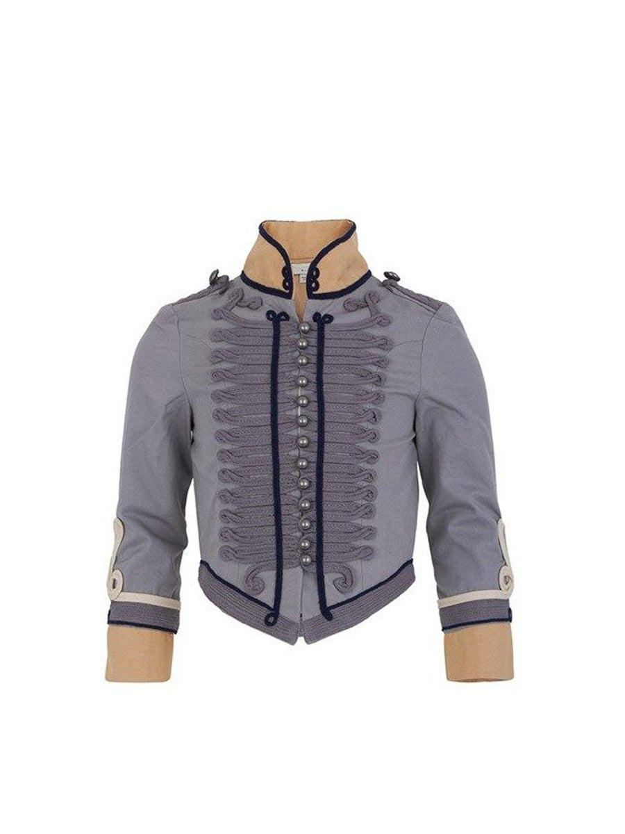 Pre-loved Stella McCartney Kids Vintage Military Jacket Grey Sand size 4 years - 1love2hugs3kisses Ibiza
