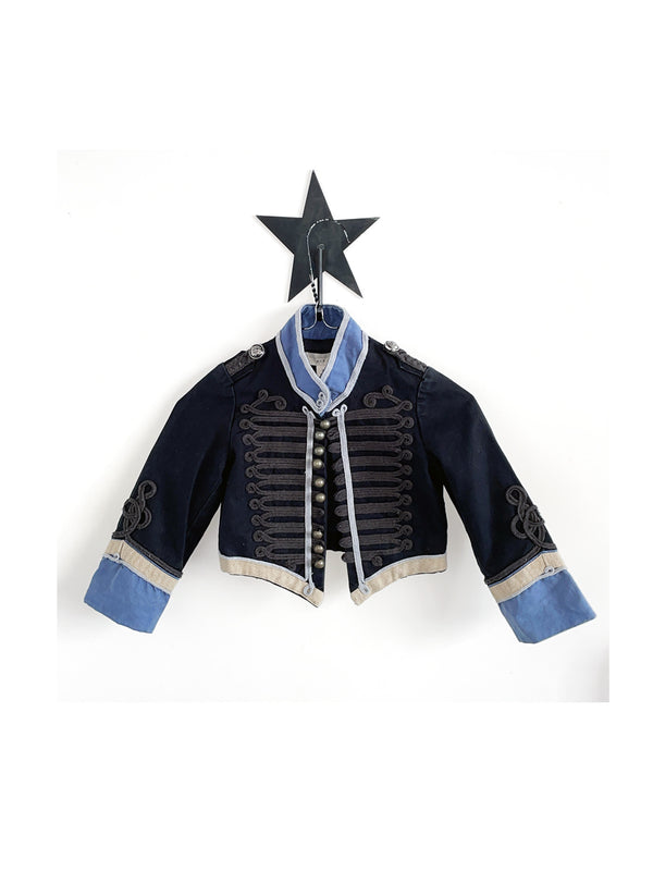 Pre-loved Stella McCartney Kids Vintage Military Jacket Navy Blue - 1love2hugs3kisses ibiza