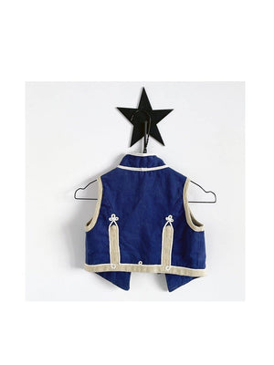 Pre-loved Stella McCartney Kids Vintage Military Waistcoat Blue Cream - 1love2hugs3kisses ibiza