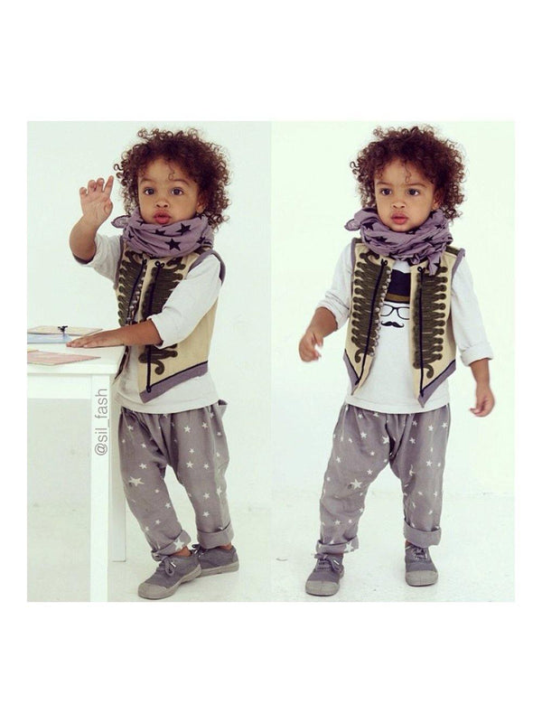 Pre-loved Stella McCartney Kids Vintage Military Waistcoat Sand grey size 4 years - 1love2hugs3kisses Ibiza