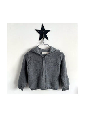 Pre-loved Stella McCartney Kids hooded Vest grey - 1love2hugs3kisses ibiza