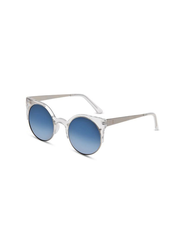 Supa Sundays Eyewear Afterglow clear w. ice blue reflector lens