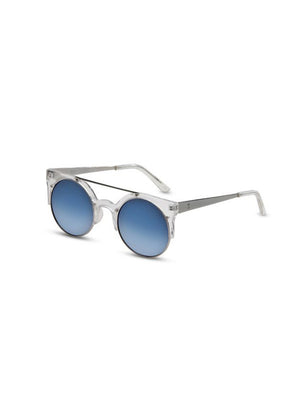 Supa Sundays Eyewear Dallas clear w. ice blue reflector lens