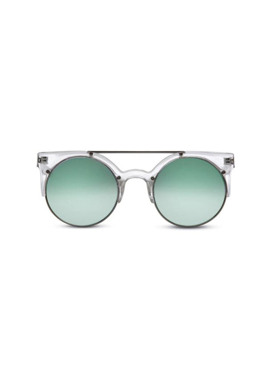 Supa Sundays Eyewear Dallas clear w. ice green reflector lens