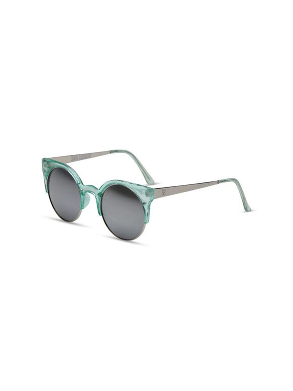 Supa Sundays Eyewear Estelle mint green reflective lens