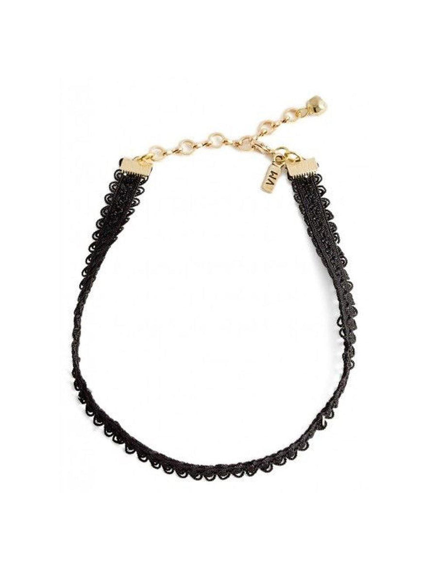 Vanessa Mooney Frozen Lace Choker Black - 1love2hugs3kisses ibiza