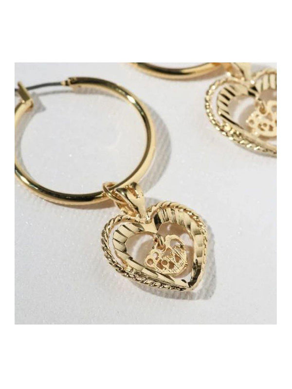 Vanessa Mooney The Adorar Heart Earrings Gold - 1love2hugs3kisses Ibiza