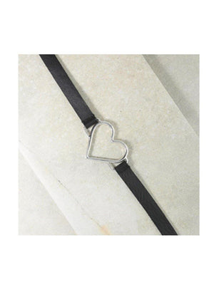Vanessa Mooney The Our Amour Choker Necklace Silver - 1love2hugs3kisses Ibiza