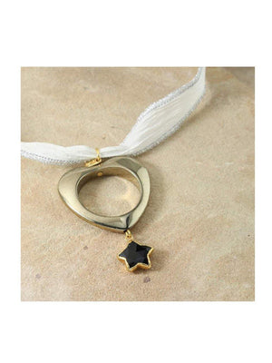 Vanessa Mooney The Ursa Silk Choker Gold - 1love2hugs3kisses Ibiza