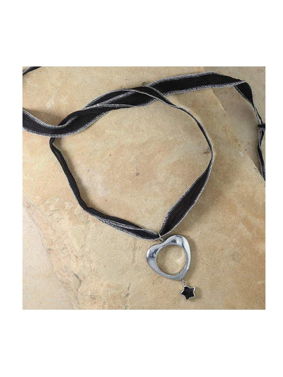 Vanessa Mooney The Ursa Silk Choker Silver - 1love2hugs3kisses Ibiza