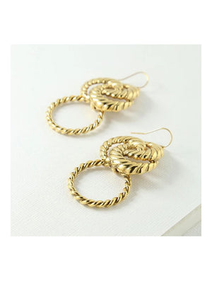 Vanessa Mooney The Valleta Mini Earrings Gold - 1love2hugs3kisses Ibiza