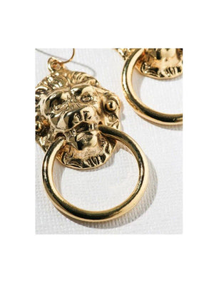 Vanessa Mooney The Vandal Small Door Knocker Earrings Gold - 1love2hugs3kisses Ibiza