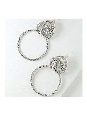 Vanessa Mooney The Valleta Earrings Silver - 1love2hugs3kisses Ibiza