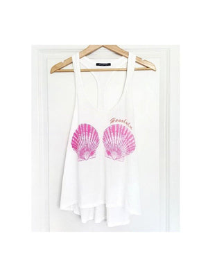 Wildfox Couture Honolulu relaxed fit seashell tank top - 1love2hugs3kisses Ibiza