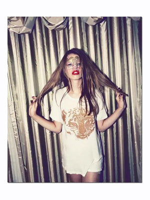 Wildfox Couture Sparkle Cheetah Oversized Tee - 1love2hugs3kisses Ibiza