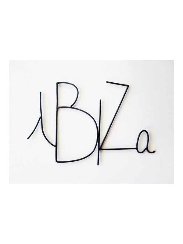 Zoé Rumeau Ibiza Word Black - 1love2hugs3kisses ibiza