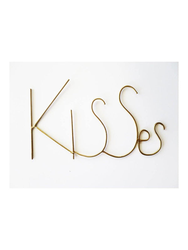 Zoé Rumeau Kisses Word Gold - 1love2hugs3kisses ibiza