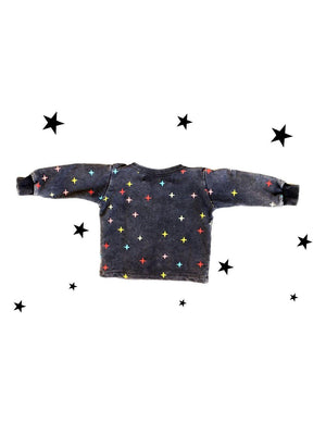 Zuttion Baby Sweater Shining Star Washed Black - 1love2hugs3kisses Ibiza