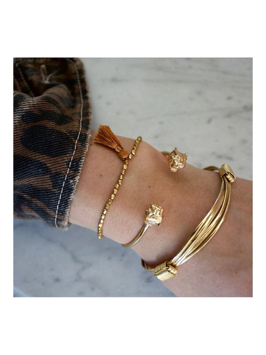 A-La Leopard Bracelet Gold - 1love2hugs3kisses Ibiza