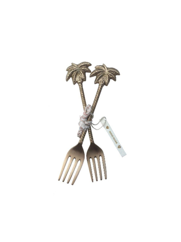 Doing Goods Lulu Palmtree fork set of 2 - 1love2hugs3kisses Ibiza