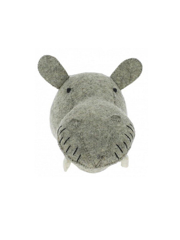 Fiona Walker England Hippo Mini Animal Head - 1love2hugs3kisses Ibiza