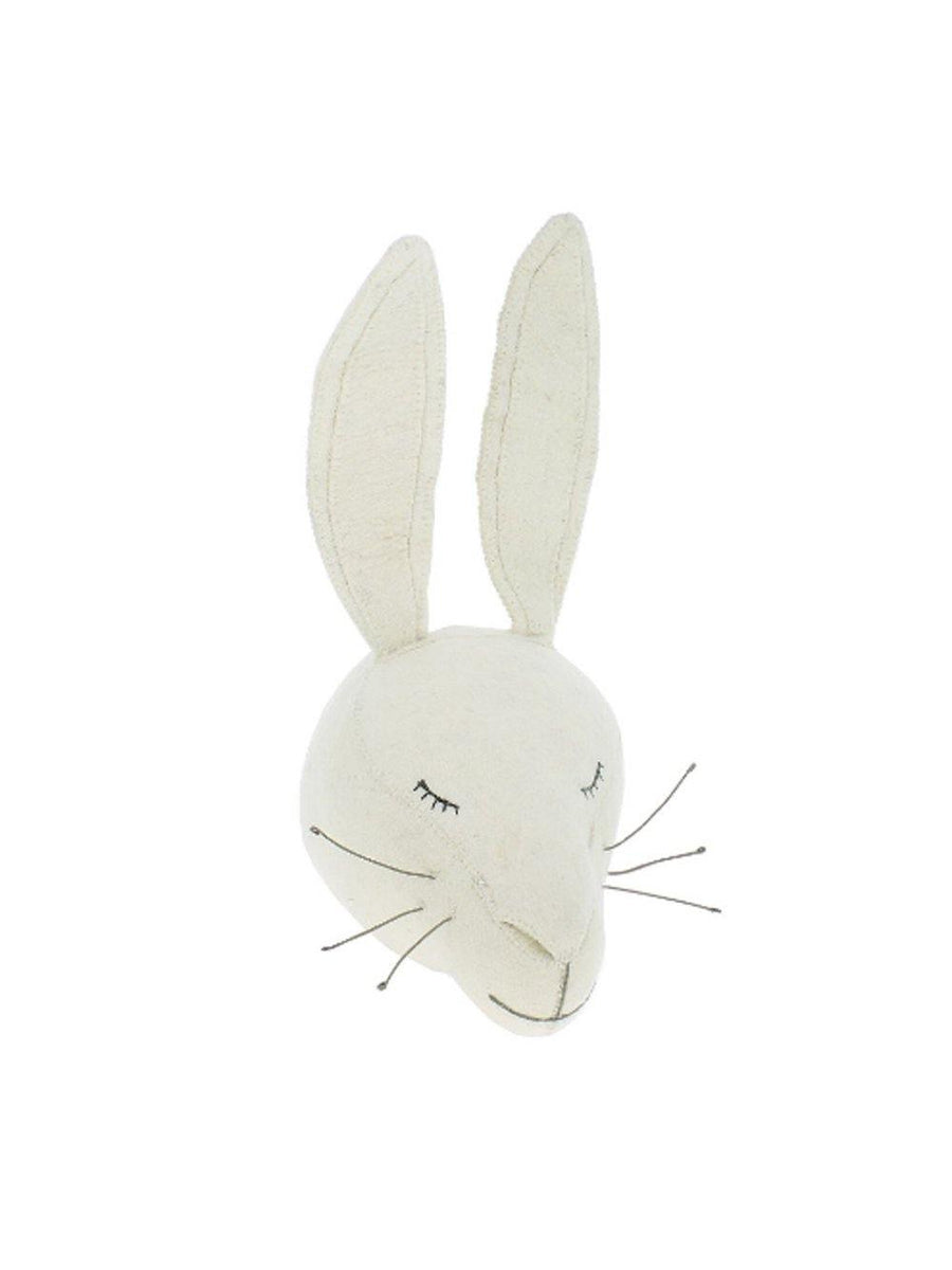 Fiona Walker England Sleepy Rabbit Large Animal Head - 1love2hugs3kisses Ibiza