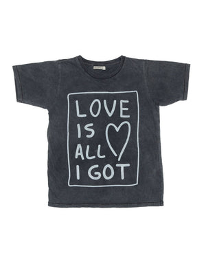 Zuttion T-shirt Love Is All I Got - 1love2hugs3kisses Ibiza
