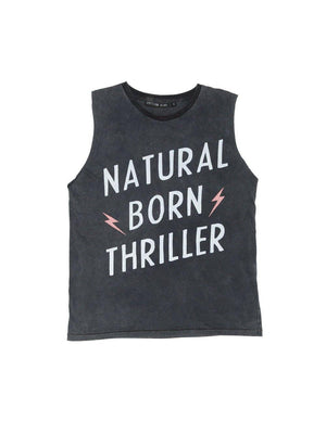 Pre Loved Zuttion Tank Top Natural Born Thriller - 1love2hugs3kisses ibiza